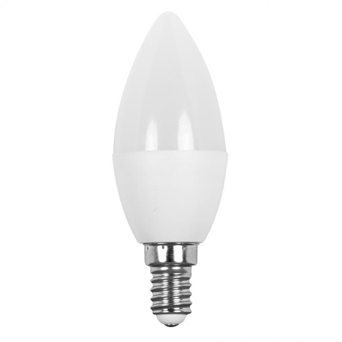 led лампа, 7w, e14, бяла светлина, 4200к, 650lm, lc71442