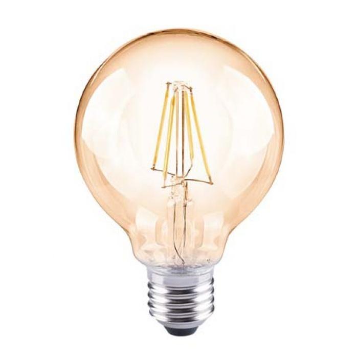 led лампа, 6w, e27, топла светлина, 2700к, 590lm, 3963
