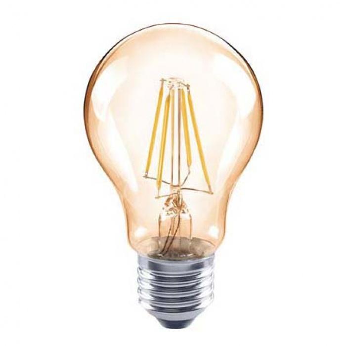 led лампа, 6w, e27, топла светлина, 2700к, 590lm, 4087