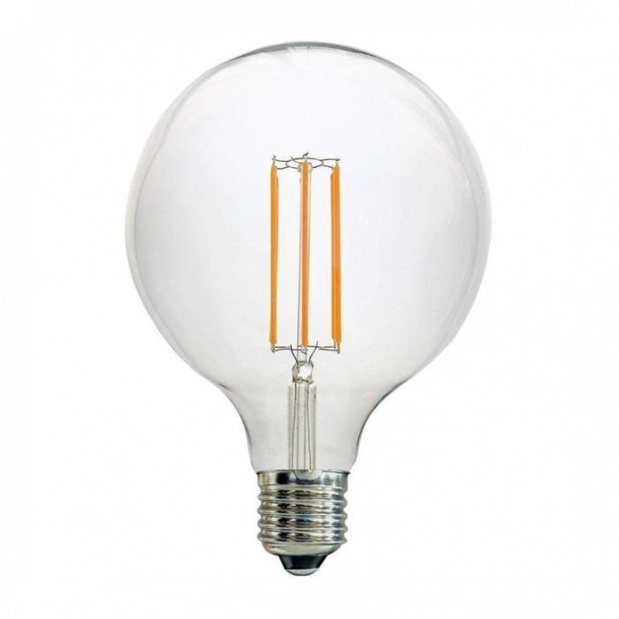 led лампа, 7w, e27, G125 топла светлина, 2700к, 800lm, L020207340