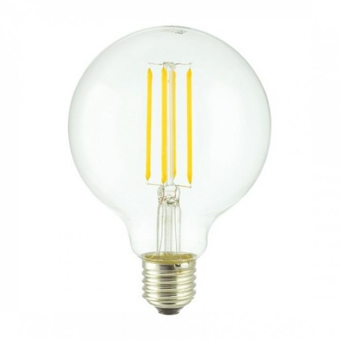 led лампа, 7w, e27, G95 топла светлина, 2700к, 800lm, L020207339