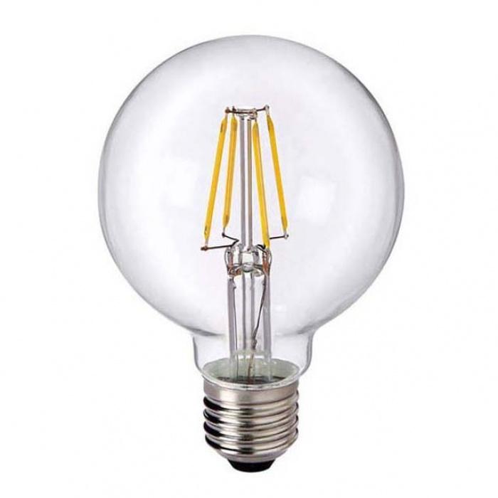 led лампа, 4w, e27, G80 топла светлина, 2700к, 470lm, L020207322