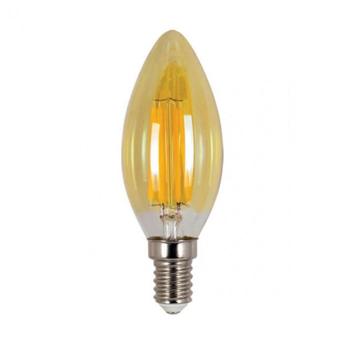 led лампа, 4w, e14, топла светлина, 2700к, 300lm, 4088