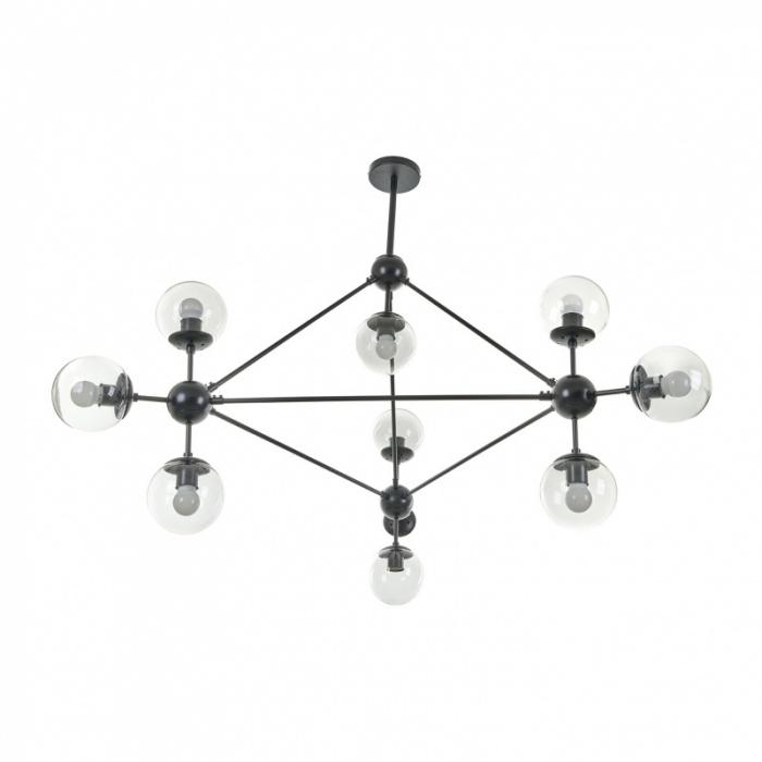 Полилей Molecule, черен, 10xe27, el 2322/10 bk