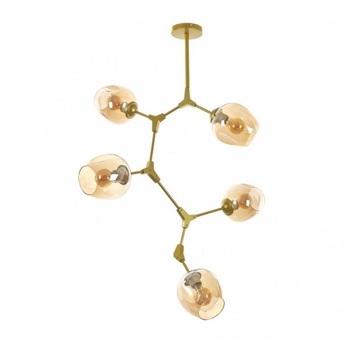 Полилей DNA, злато, 5xe27, el 2324/5 gd